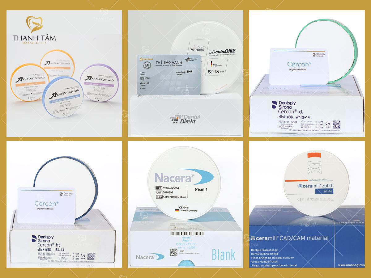 Các dòng răng sứ với thẻ bảo hành chính hãng
