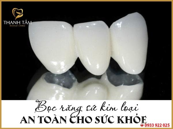 An toàn đối với sức khỏe răng miệng