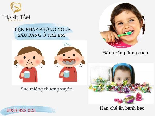 Các biện pháp phòng ngừa sâu răng ở trẻ