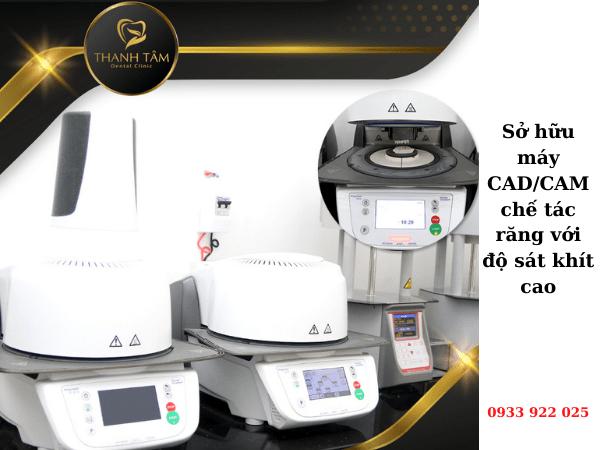 Sở hữu máy CAD_CAM chế tác răng với độ sát khít cao