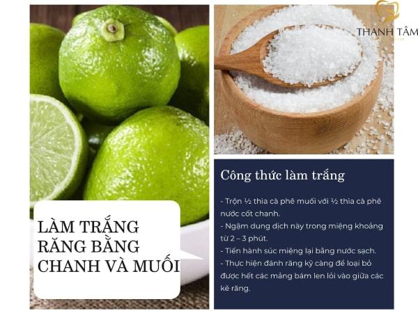 sử dụng chanh và muối