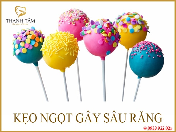 kẹo ngọt gây sâu răng