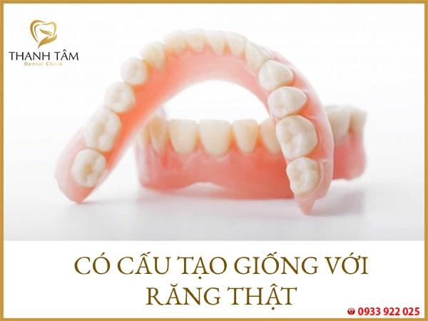 răng tháo lắp nguyên hàm