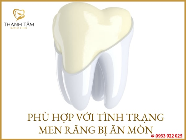 Men răng bị tổn hại