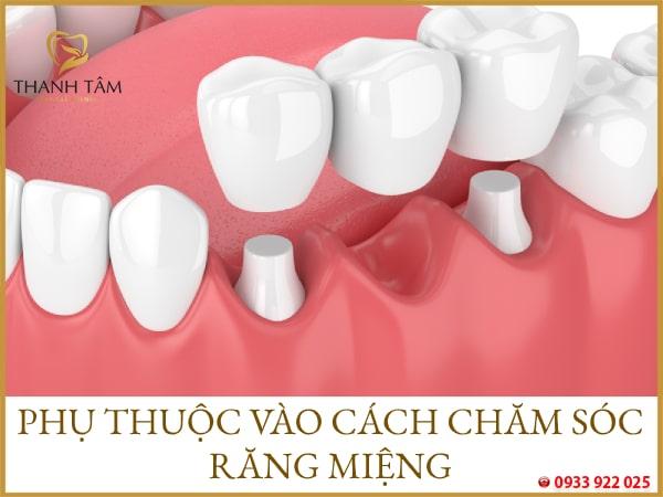 Phụ thuộc vào cách chăm sóc răng miệng của khách hàng