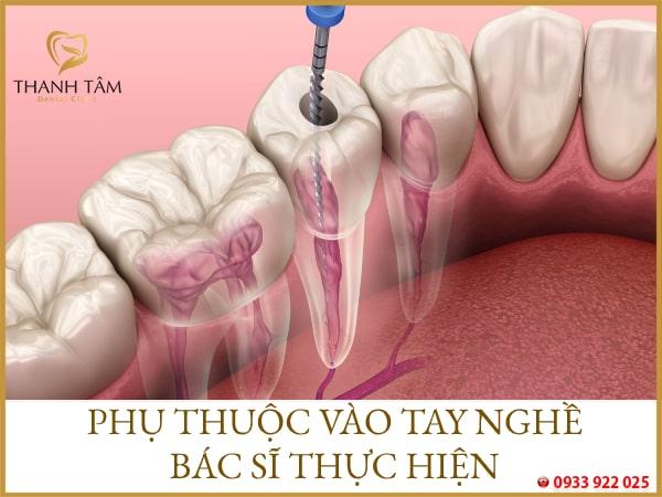 lấy tủy răng chết có đau không