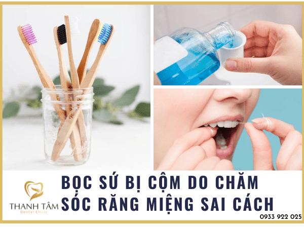 Do chăm sóc răng miệng sai cách