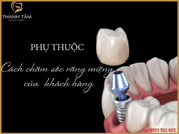 Phụ thuộc cách chăm sóc răng miệng