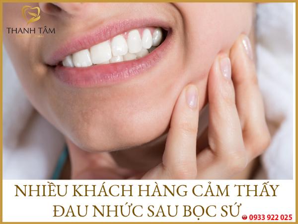Răng bọc sứ bị đau
