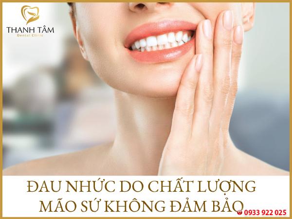 Chất lượng răng sứ không đảm bảo
