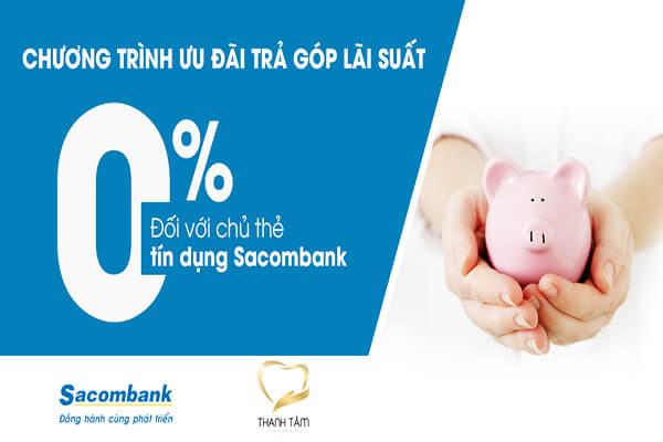 Trả Góp 0% Sacombank