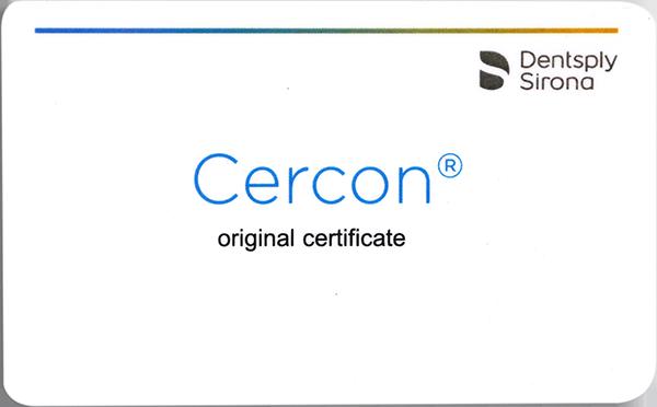 Thẻ bảo hành răng sứ Cercon XT
