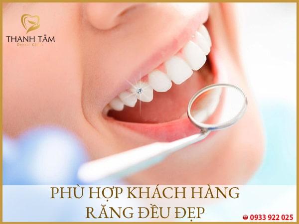 Phù hợp tình trạng răng khỏe mạnh