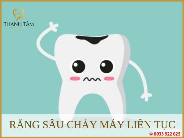 răng sâu chảy máu liên tục