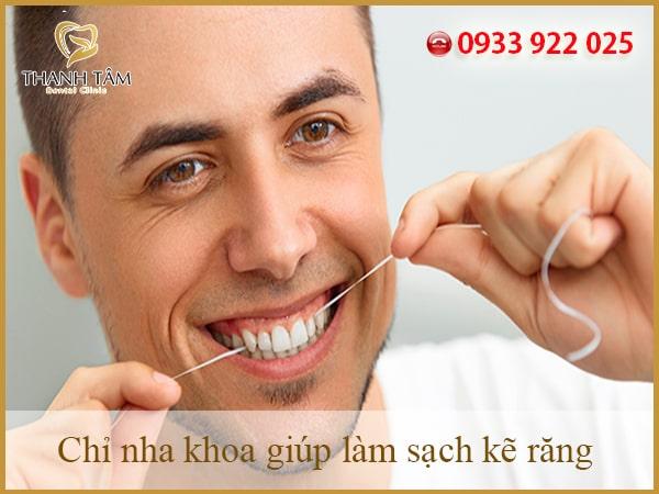 chỉ nha khoa giúp làm sạch kẽ răng