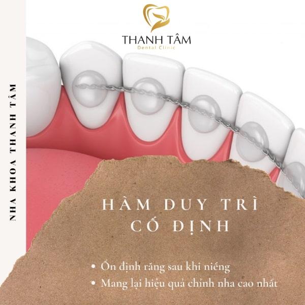 Công dụng ổn định răng hiệu quả