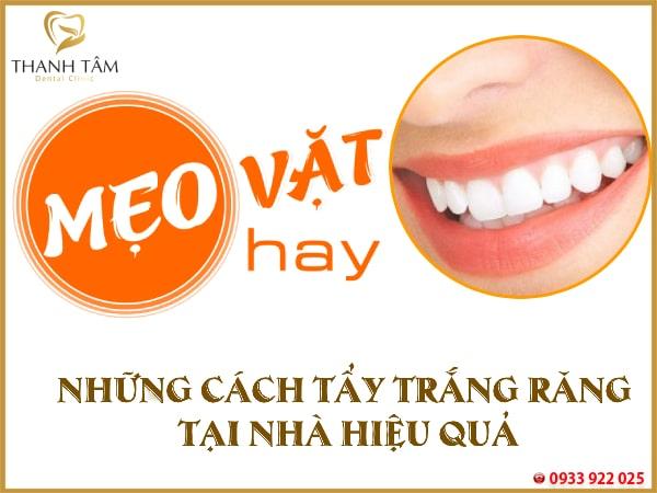 mẹo tẩy trắng răng tại nhà