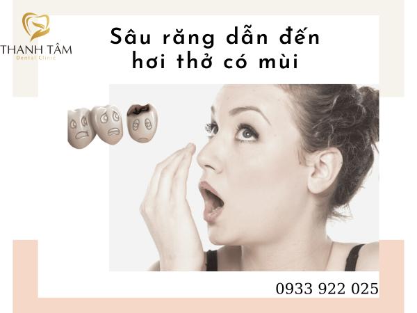 Sâu răng dẫn đến hơi thở có mùi