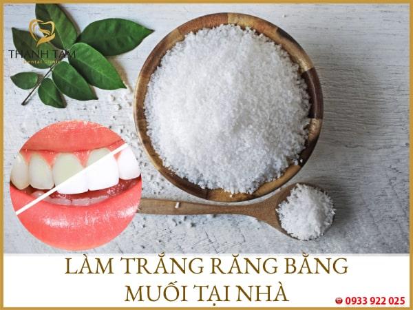 làm trắng răng tại nhà bằng muối