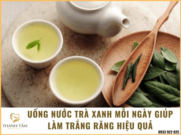 Uống nước trà xanh mỗi ngày