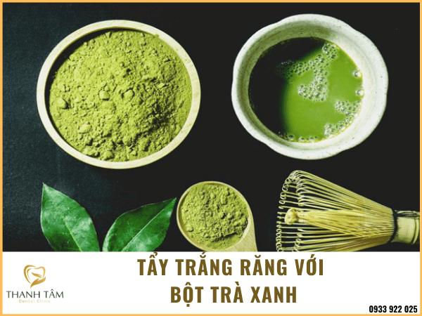 Sử dụng bột trà xanh