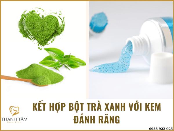 Kết hợp trà xanh và kem đánh răng