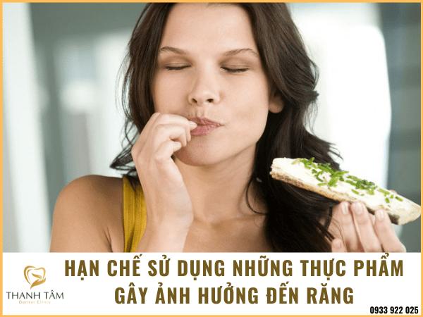 Hạn chế sử dụng những thực phẩm gây hại
