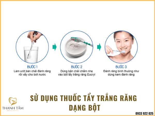 Cách sử dụng thuốc tẩy trắng răng dạng bột