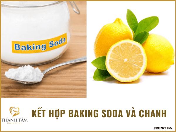 Lấy cao răng bằng baking soda và chanh