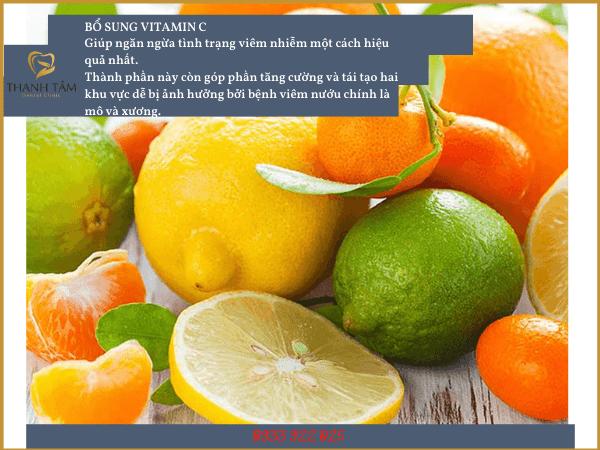 Bổ sung thực phẩm chứa nhiều vitamin C