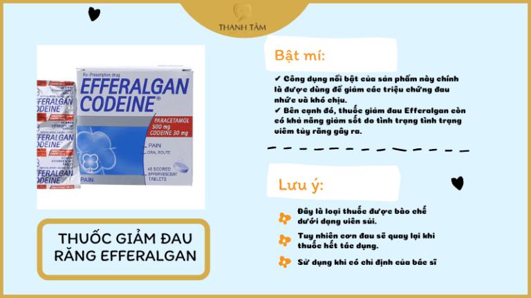 Thuốc giảm đau răng Paracetamol