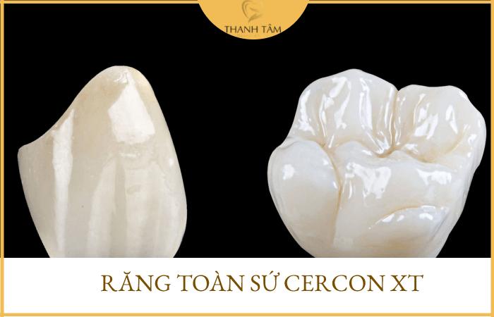 Răng sứ không kim loại Cercon XT