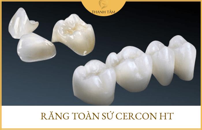 Răng sứ không kim loại Cercon HT