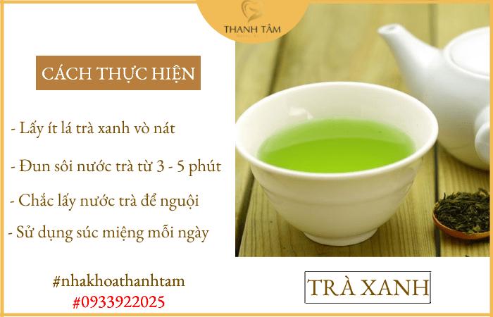 Cách chữa tụt lợi chân răng tại nhà bằng trà xanh